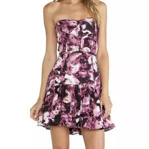 PARKER S Britney Silk Floral Quilted Mini Dress